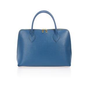 Modrá kožená kabelka Massimo Castelli Hanna