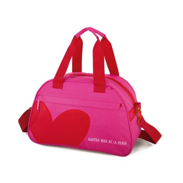 Cestovní taška Agatha, růžová