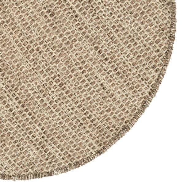 Vlněný koberec Asko Light Grey, 90 cm