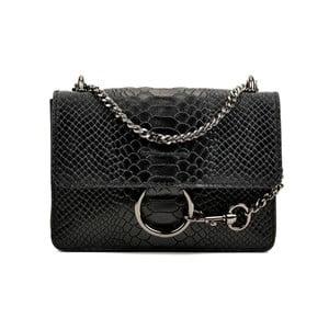 Černá kožená kabelka Carla Ferreri Matio