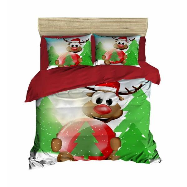 Daniele karácsonyi, kétszemélyes ágyneműhuzat lepedővel, 160 x 220 cm