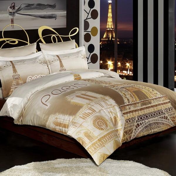Povlečení s prostěradlem Eiffel Paris,200x220cm