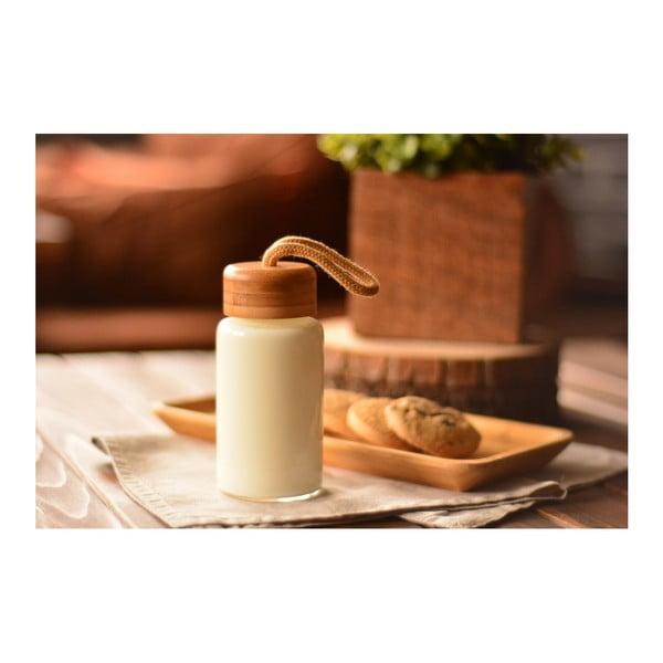 Skleněná lahev s bambusovým uzávěrem Bambum Diem, objem 200 ml