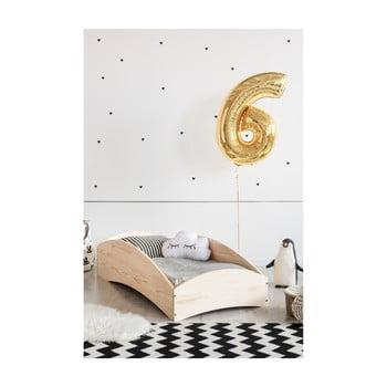 Pat din lemn de pin pentru copii Adeko BOX 6, 60x120 cm