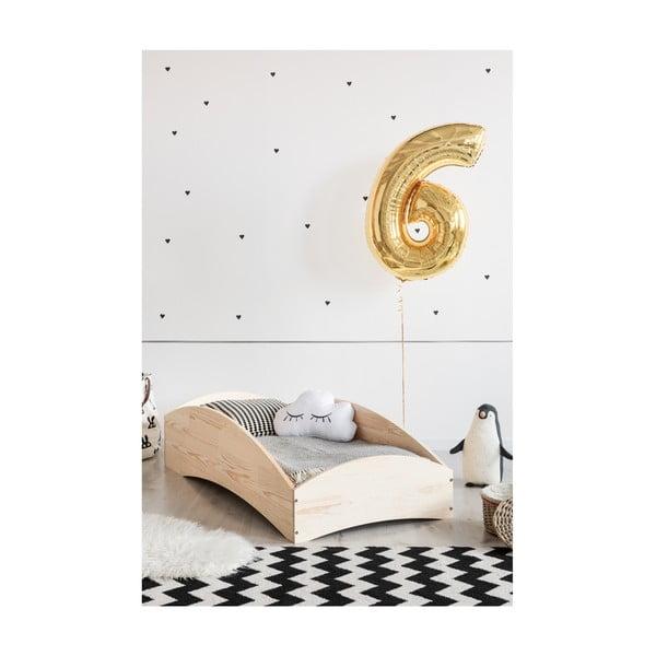 Detská posteľ z borovicového dreva Adeko BOX 6, 80×160 cm