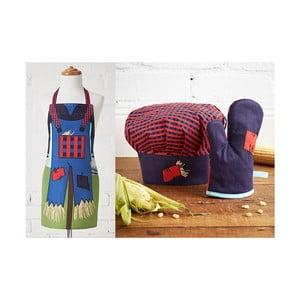 Dětská sada zástěry, čepice a kuchyňské rukavice Ladelle Scarecrow
