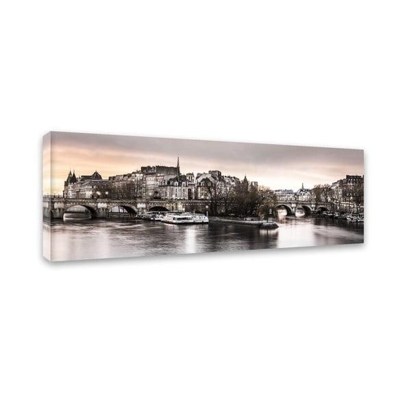 Canvas Paris City fali kép, 45 x 140 cm - Styler