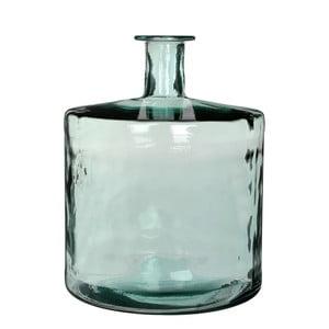 Zelená skleněná váza Mica Guan, 44x35cm
