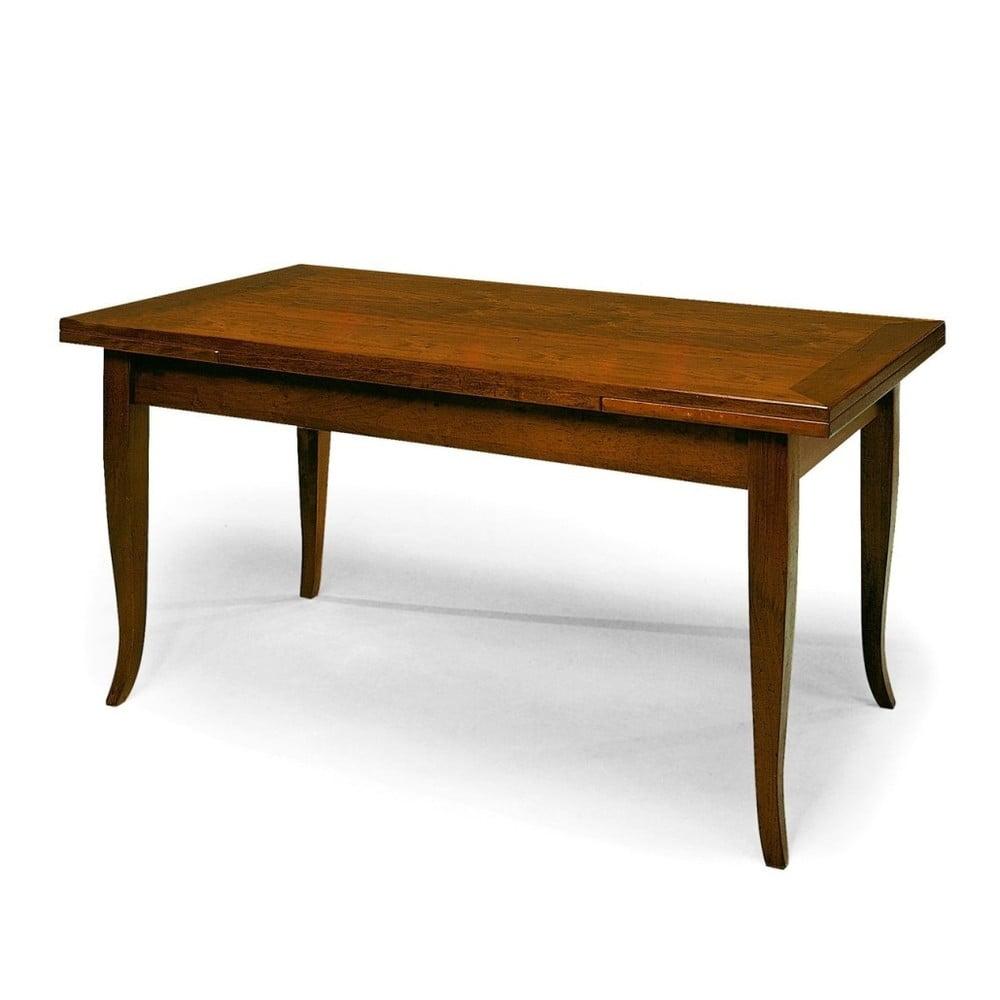 Dřevěný rozkládací jídelní stůl Castagnetti Noce, 140 x 80 cm