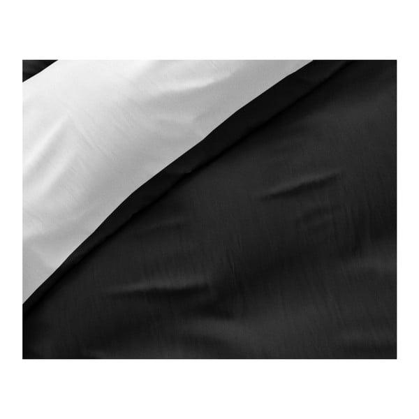 Černo-bílé povlečení z mikroperkálu na jednolůžko Sleeptime Twin Face,140x200cm