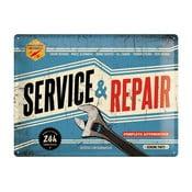 Plechová cedule Service and Repair, 30x40 cm