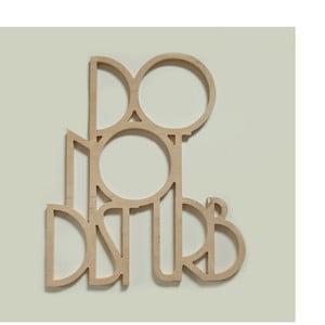 Dekorativní nápis Do not disturb, přírodní