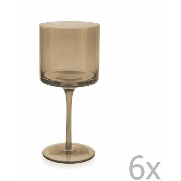 Súprava 6 hnedých pohárov na víno Villa d'Este Cala, 450 ml