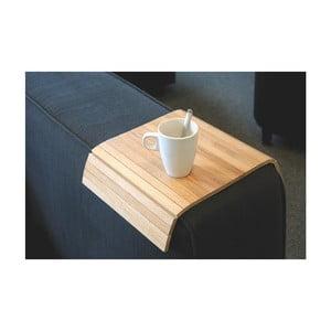 Suport pahar pentru fotoliu Rowico Armtray, culoarea lemnului