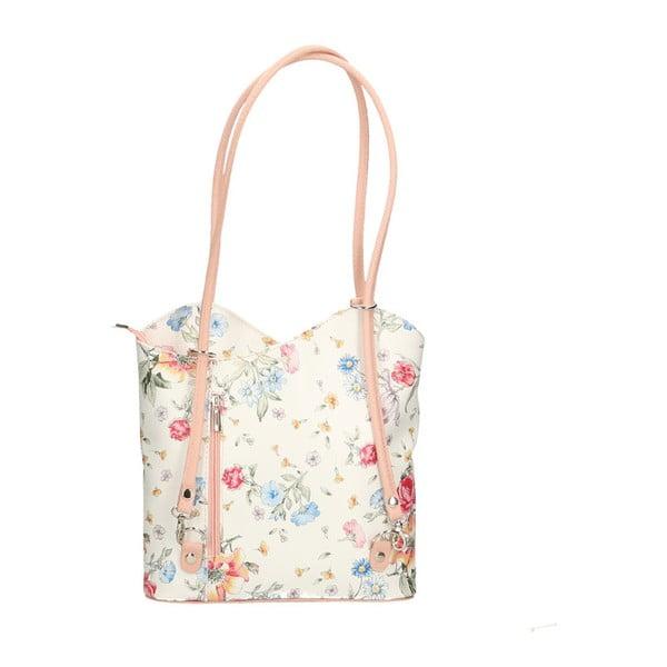 Kožená kabelka s růžovými detaily Chicca Borse Paraya