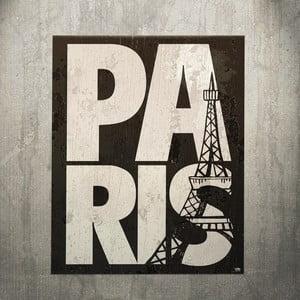 Cedule Paris 1932, 56x45 cm