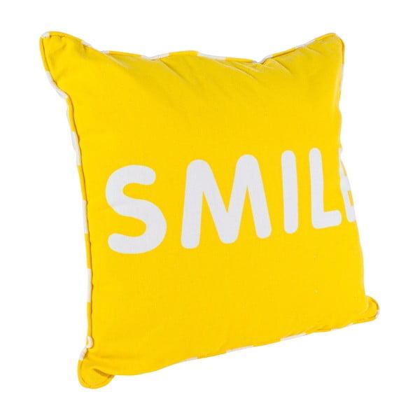 Polštář Smile, žlutý