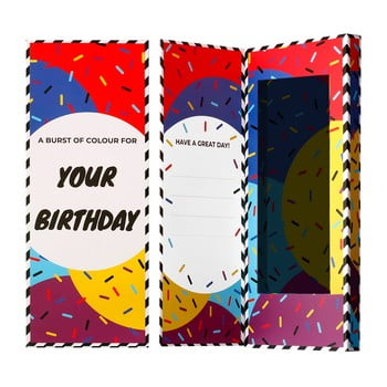 Cutie de cadou pentru șosete Ballonet Socks Happy Birthday Socks Card