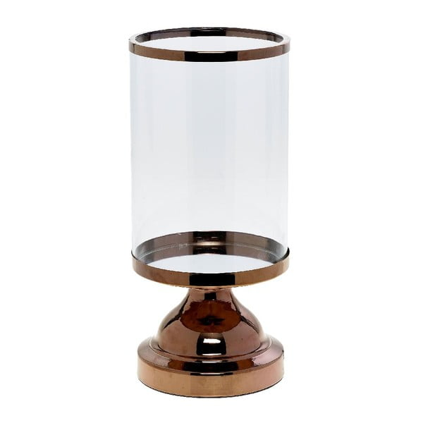 Svícen Trophy Copper, 13x13x27 cm