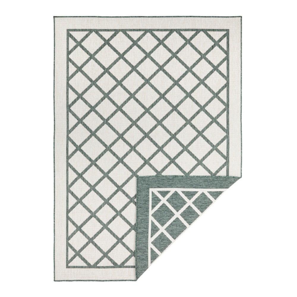 Zeleno-krémový venkovní koberec Bougari Sydney, 170 x 120 cm