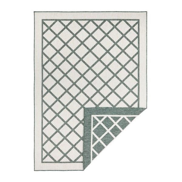 Covor adecvat pentru exterior Bougari Twin Supreme, 230 x 160 cm, verde-crem