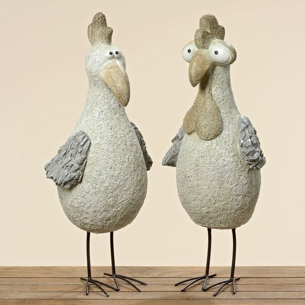 Sada 2 dekorativních ptáčků Pavlik, 60 cm