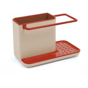 Kuchyňský stojánek na mycí prostředky Caddy Sink Tidy, šedý/červený