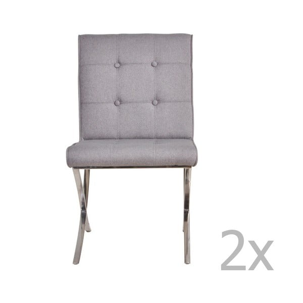 Sada 2 šedých židlí Garageeight Murcia