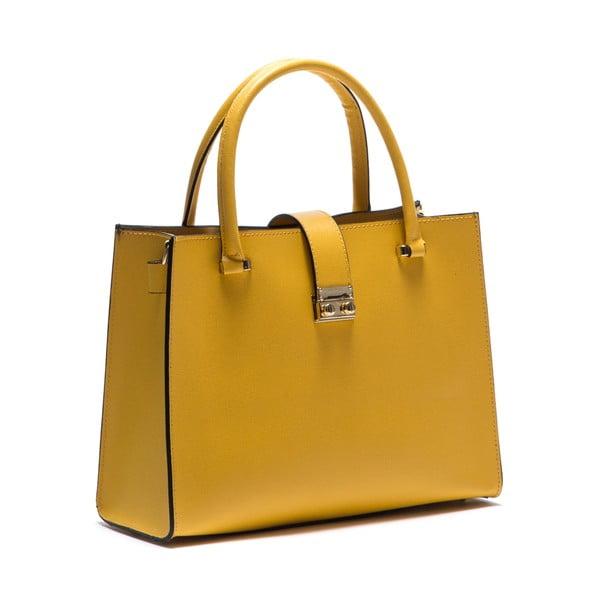 Kožená kabelka Anna Luchini 448 Giallo