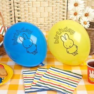 Sada 8 nafukovacích balónků Neviti Miffy Birthday