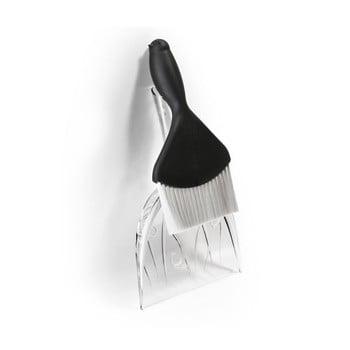 Făraș și perie Qualy&CO Sweepie Sparrow, alb-negru imagine