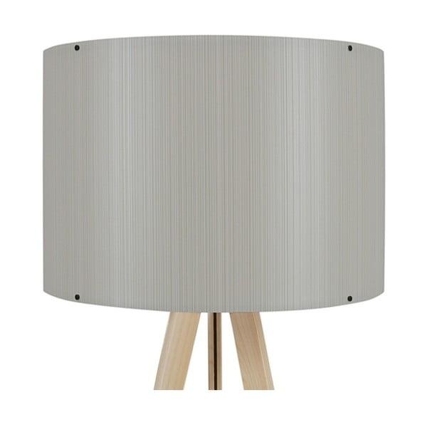 Stojací lampa se světle šedým stínítkem Aiden