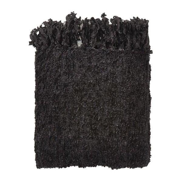 Pléd Fedde Black, 130x180 cm