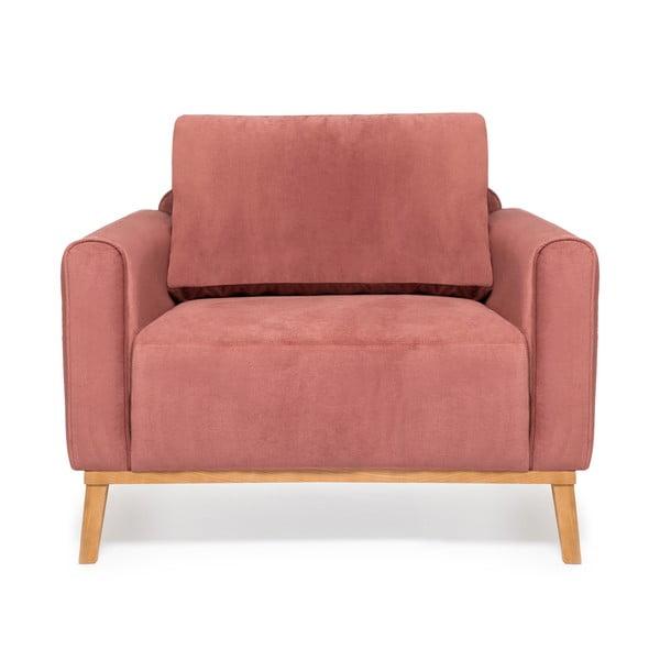 Pudrově růžové křeslo Vivonita Milton Trend