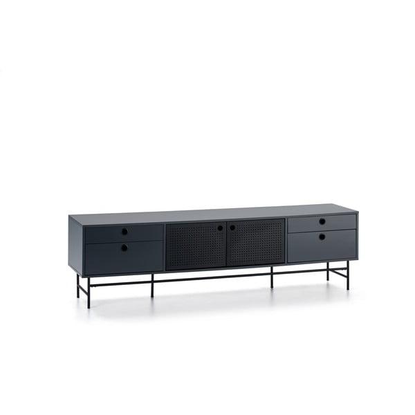 Čierno-modrý televízny stolík Teulat Punto