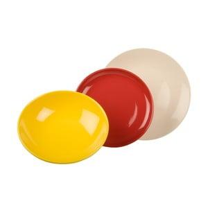 18dílná sada talířů Kaleidos, bílo-žluto-červená