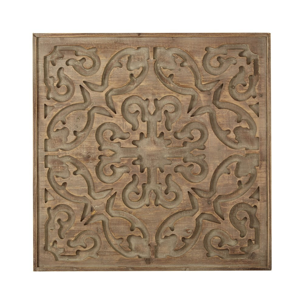 Dřevěný obraz Graham & Brown Bazaar Dark Wood, 62 x 62 cm