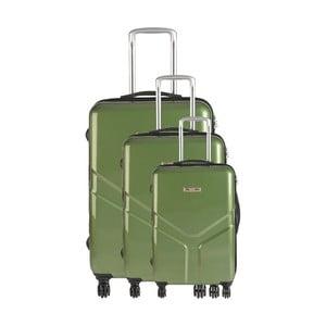 Set 3 cestovních kufrů Majestik Green