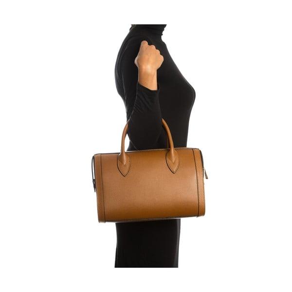 Hnědá kožená kabelka Sofia Cardoni Iniga