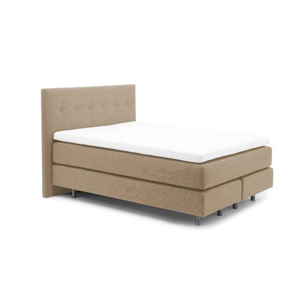 Béžová boxspring postel Vivonita Lando, 140x200cm