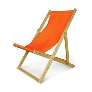 Dřevěné nastavitelné lehátko JustRest, oranžové