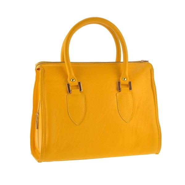 Kožená kabelka Grafias, žlutá