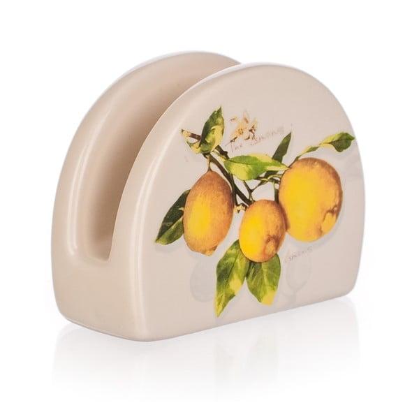 Keramický stojánek na ubrousky Banquet Lemon
