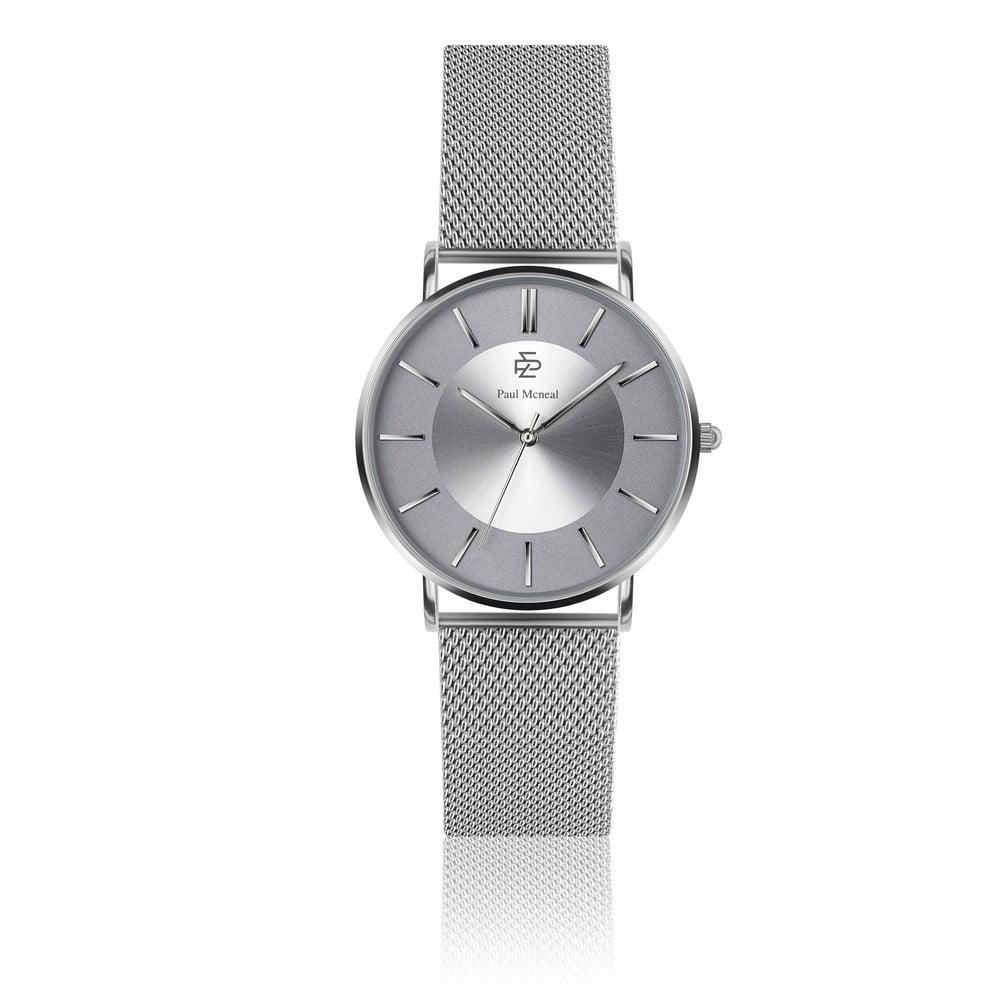 Dámské hodinky s páskem z nerezové oceli ve stříbrné barvě Paul McNeal Caresso