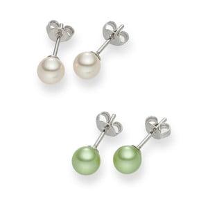 Sada 2 párů perlových náušnic Nova Pearls Copenhagen Asopos