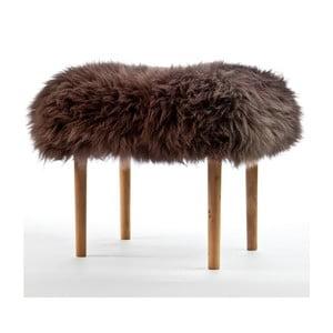 Stolička z ovčí kůže Carys Mink