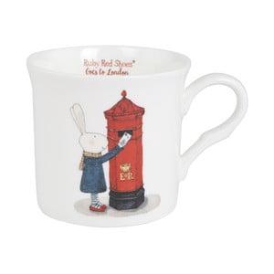 Hrnek z kostního porcelánu Ashdene Ruby Red London Post Box, 260ml