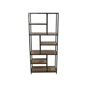 Knihovna z mahagonového dřeva HSM collection Levels, 80 x 180 cm