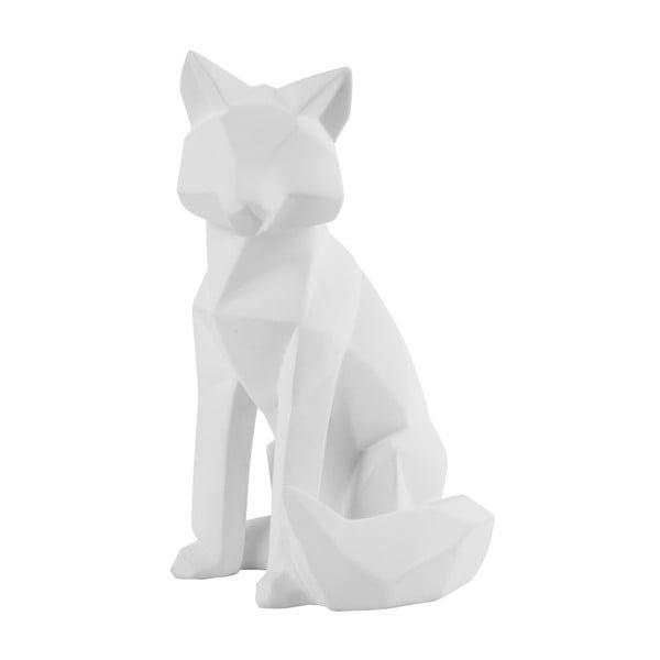 Matně bílá soška PT LIVING Origami Fox, výška26cm