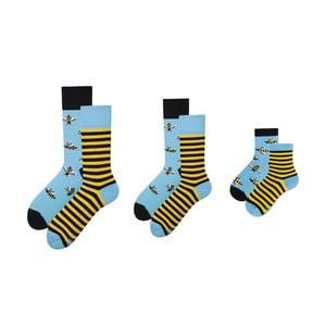 Rodinná sada 3 párů ponožek v dárkovém balení Many Mornings Bee Medium